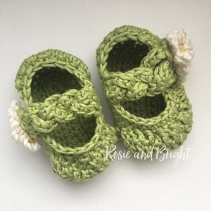 baby girl crochet shoes