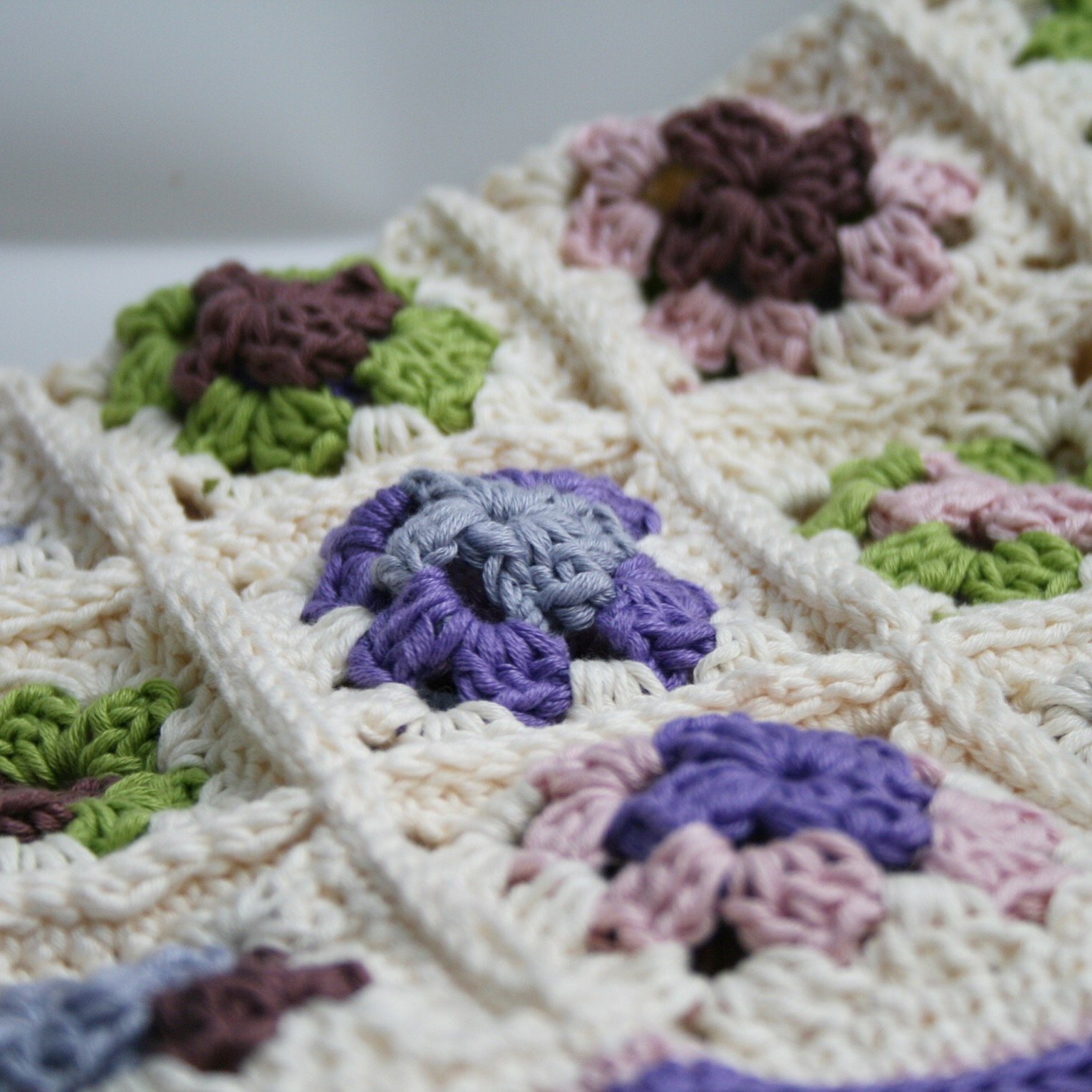rosie and bright granny square baby blanket