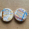 custom made vintage map badges