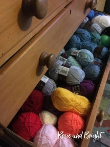 a drawer full of yarn - making plans for 2021